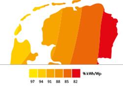 Opbrengst zonnepanelen noord Nederland