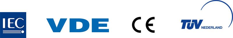 Omvormer zonnepanelen certificaten logo's