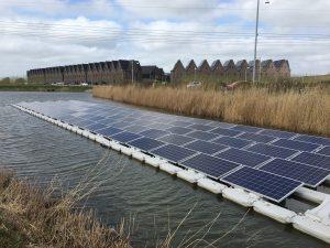 Drijvende zonnepanelen Groningen